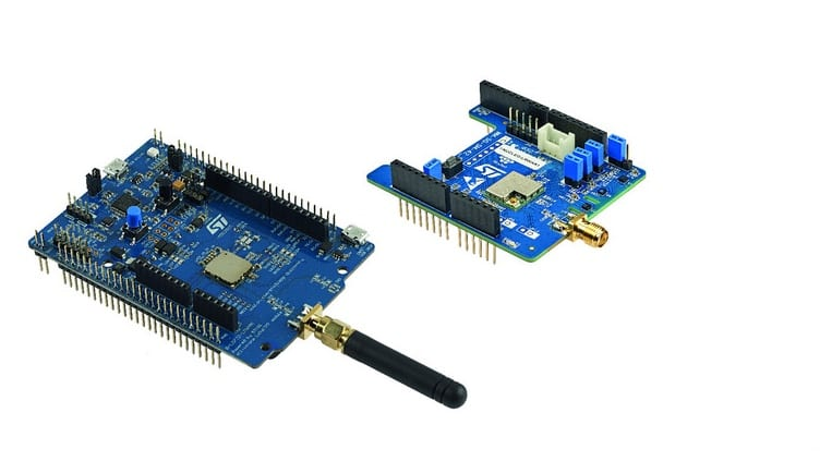 The PCB of Two LoRa Discovery Boards