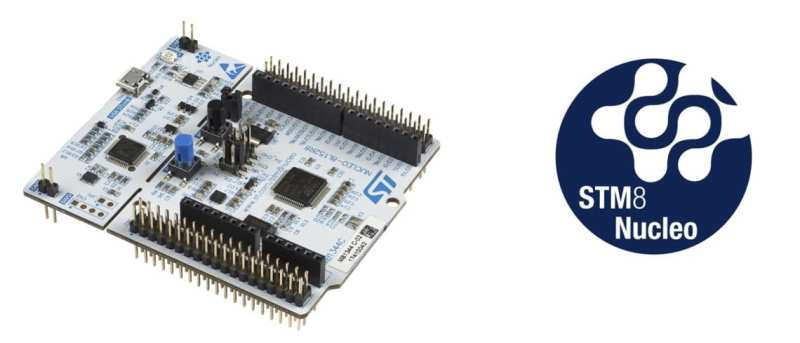 An STM8 Nucleo board