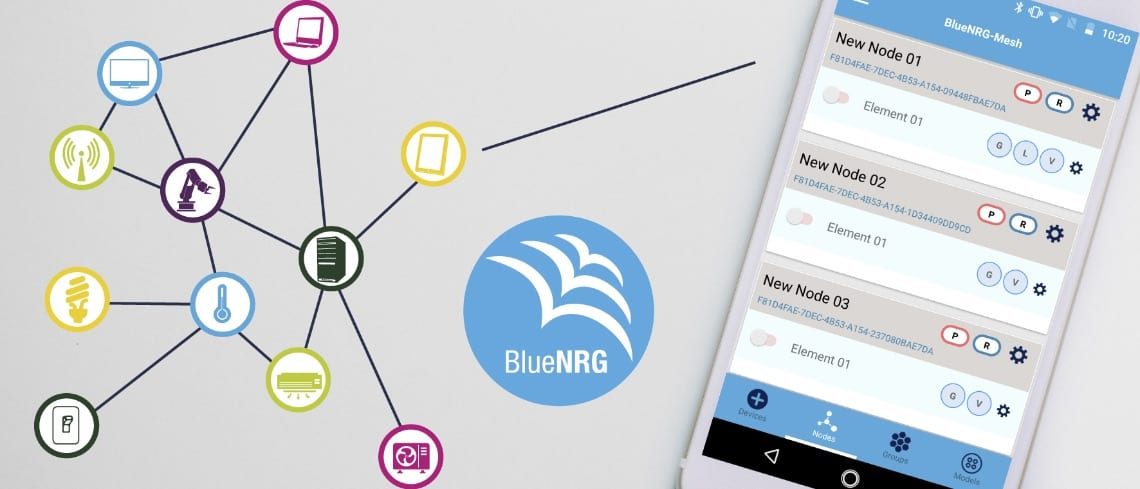 Bluetooth Mesh: Multiple Keys and Out-of-Band Provisioning on BlueNRG-Tile