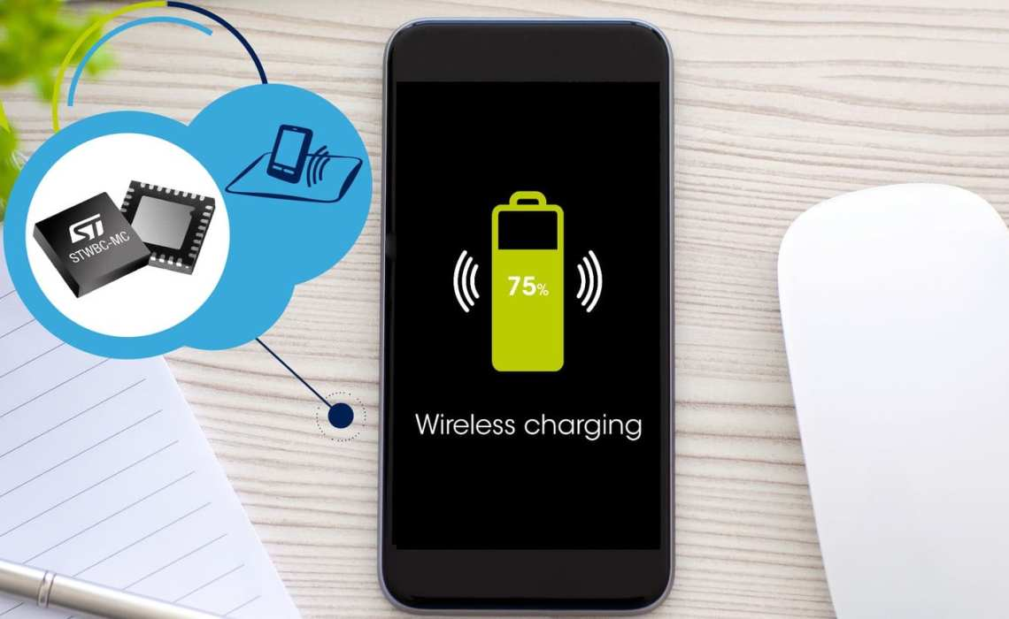 ST's First 3-Coil Qi Wireless Charging Transmitter, More