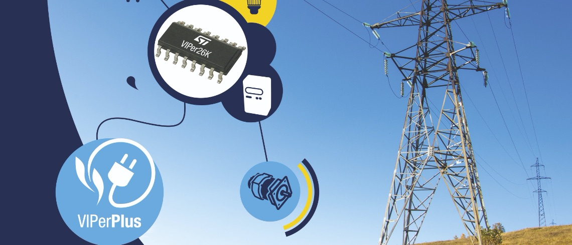 VIPer26K, a 1,050 V MOSFET for Ruggedness, a Smart PWM Controller for Flexibility