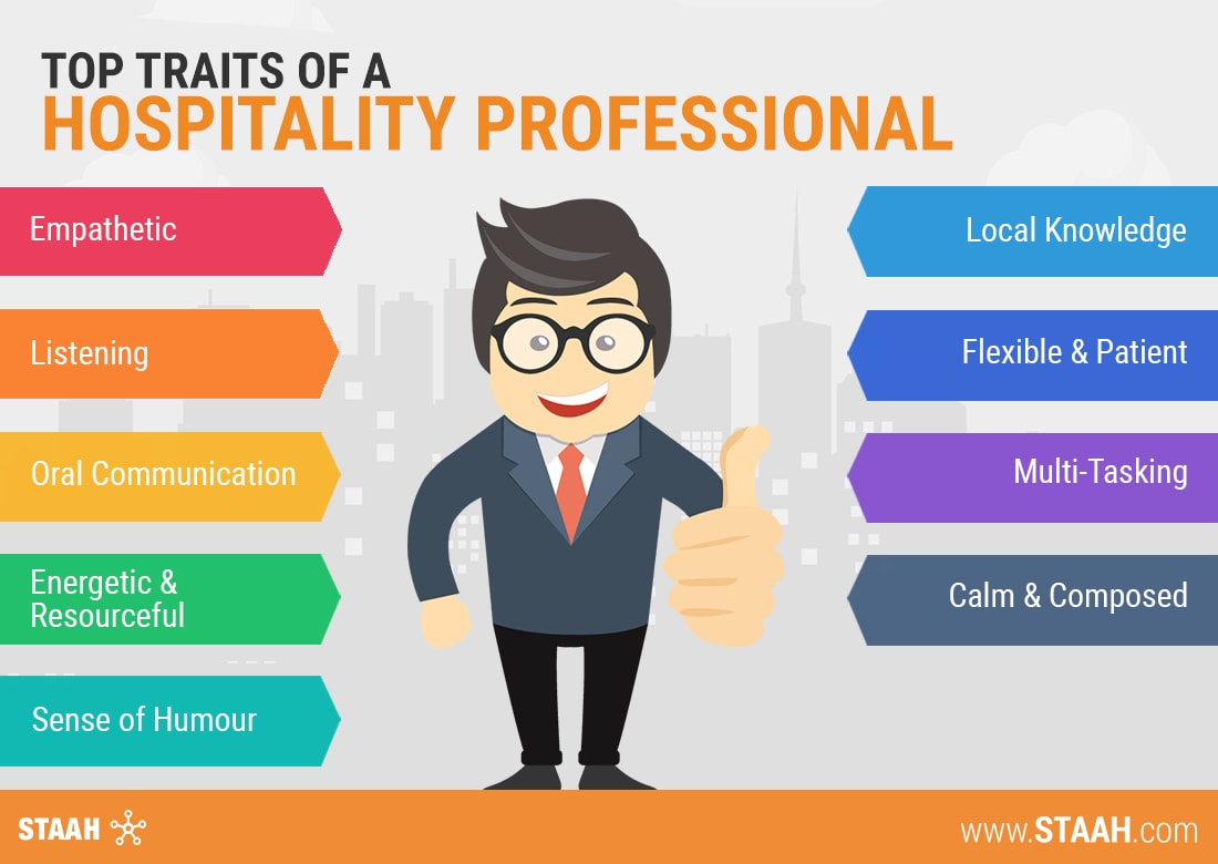 top traits of a hospitality professional