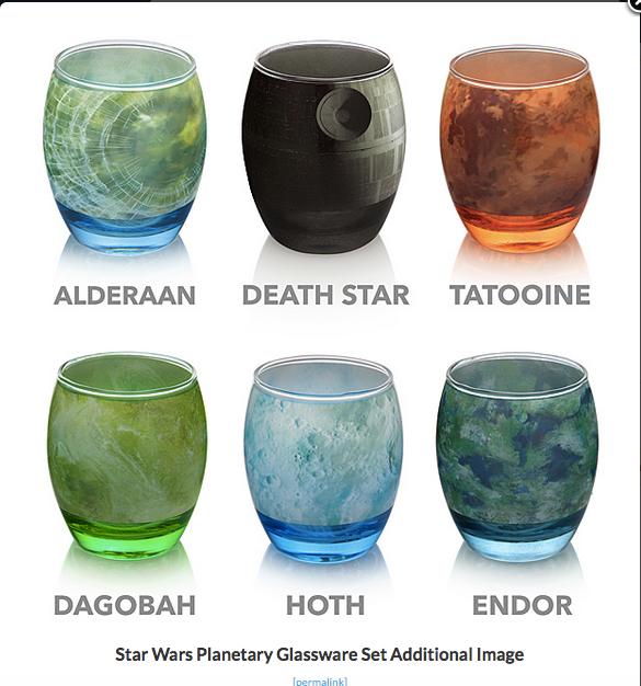 Star Wars Planet Glasses
