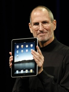 Steve with an iPad