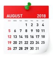August 2018   Gemeinde-Kalender-Informationen
