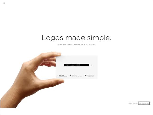 Squarespaceは、作ったロゴをダウンロードには会員登録が必要ですが無料です。