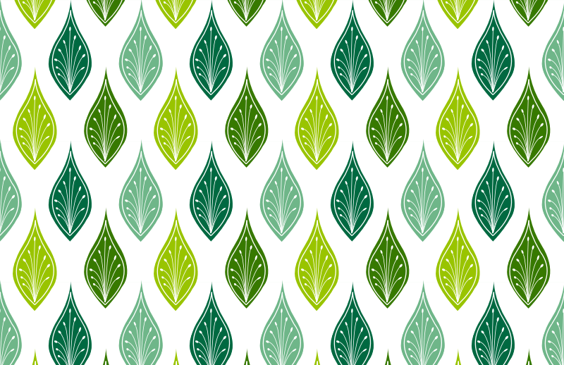Website Making Tile Pattern with Green Leaves