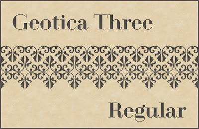 Download Geotica Three Professional Commercial Use Free Fonts