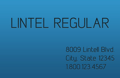 Download Lintel Regular Business Use Font
