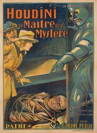 vintage art   harry houdini poster