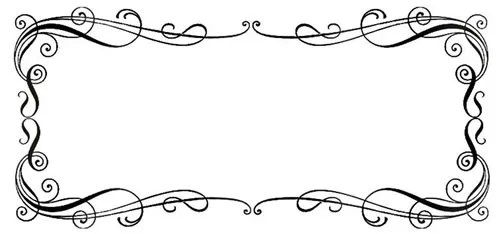 calligraphy border, border, borders, free clipart