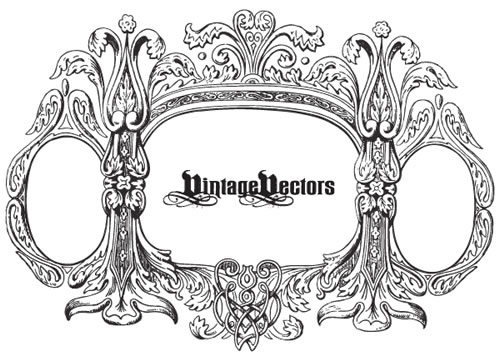vintage frame, decorative, free vectors, vectors free
