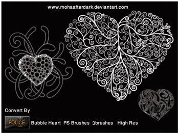 heart brushes, heart brush, hearts brushes, photo shop brushes, brush heart, hearts for valentine, brushes heart