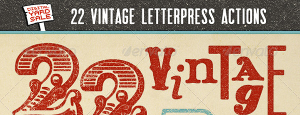 photoshop styles, letter press, vintage design, letterpress blocks, letterpress prints