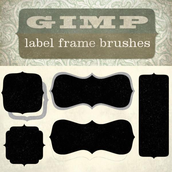 Gimp Brushes Set 3 – Label Frames   Starsunflower Studio Blog