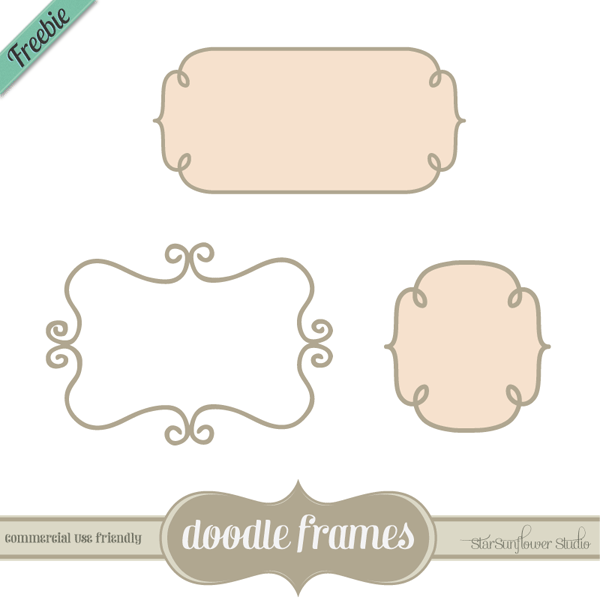 Free Doodle Frames Custom Shapes, Brushes, Vectors & PNG Clipart ...