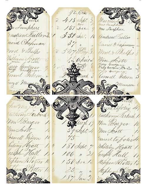 free printable gift tags, free vintage tags, free printables,