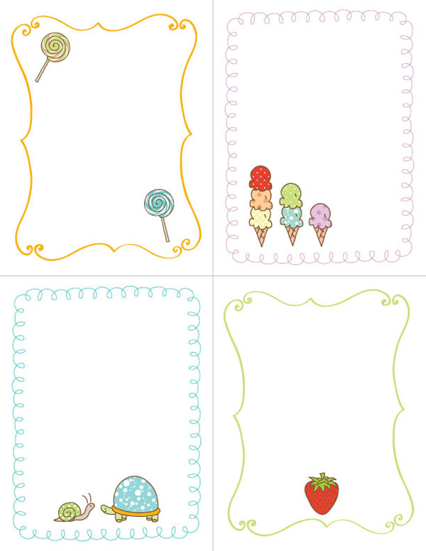 free printable, printables, cute turtle, cute lollypop, cute strawberry, free printable download, free printables downloads