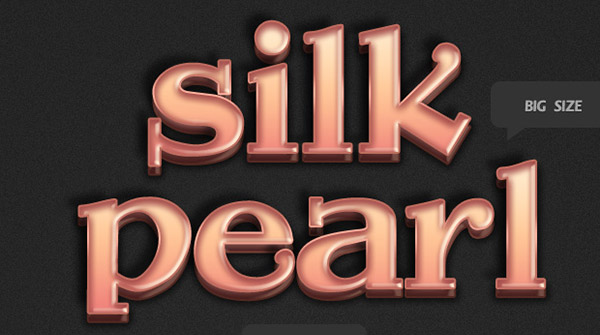 Free Photoshop Text Effect Style Silky