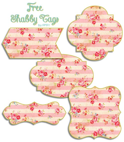 Free shabby rose vintage tags blog buttons blog post pretty