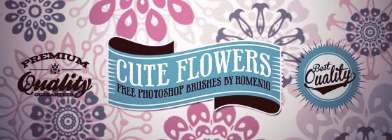 flower brushes, ornaments brushes, decorative brushes, circle brushes