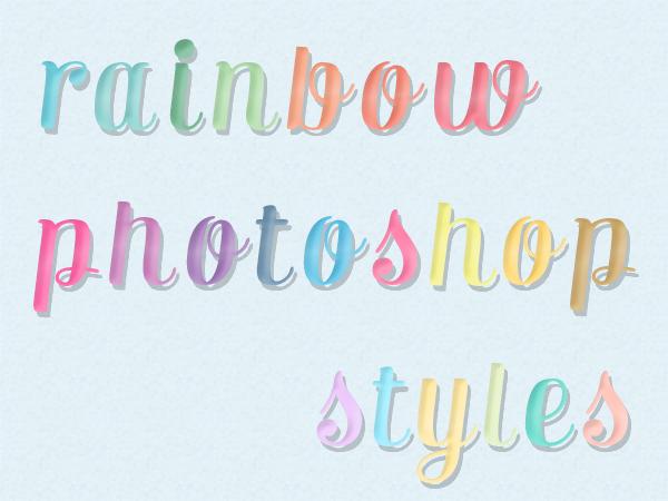 Free Rainbow Photoshop Layer Styles | Starsunflower Studio Blog