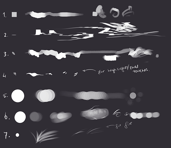 tablet brushes, photoshop brushes