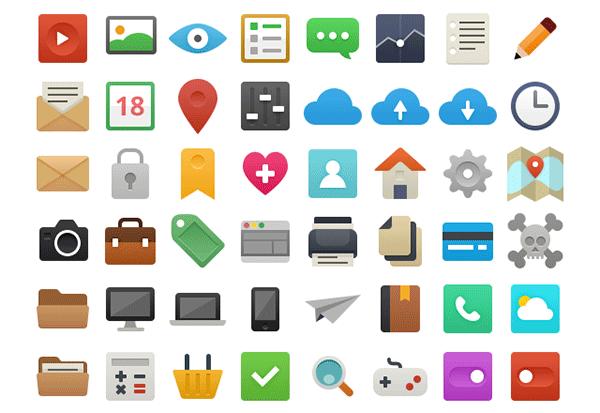 free flat icons vector, free vector, free flat icons