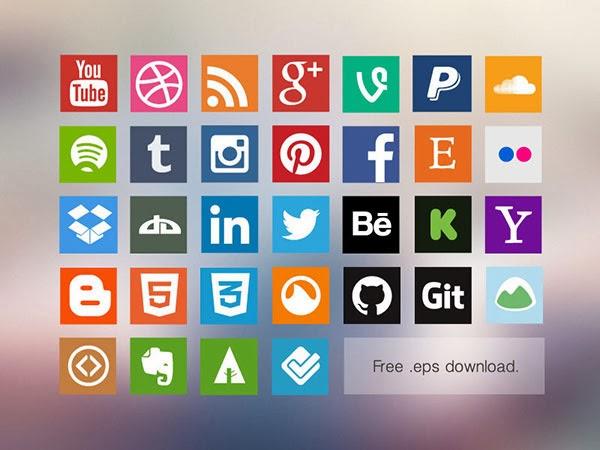 icons, icon set, social media, buttons, youtube, dribbble, rss, google plus, g+, paypal, soundcloud, spotify, tumblr, instagram, pinterest, facebook, etsy, flickr, dropbox, deviantart, linkedin, twitter, behance, kickstarter, yahoo, blogger, Octocat, git, basecamp, evernote, forrst