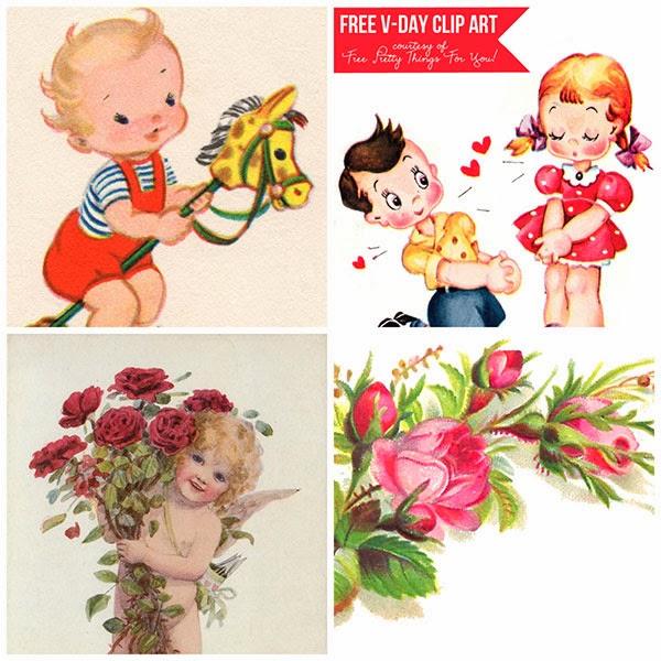clip art, free, vintage, clipart, printables, freebies, valentine's day clip art,