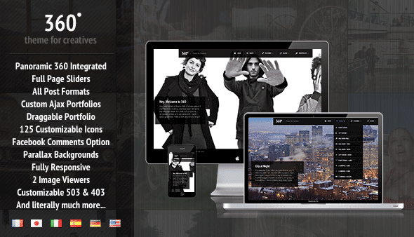parallax wordpress template, free parallax template, free responsive wordpress template