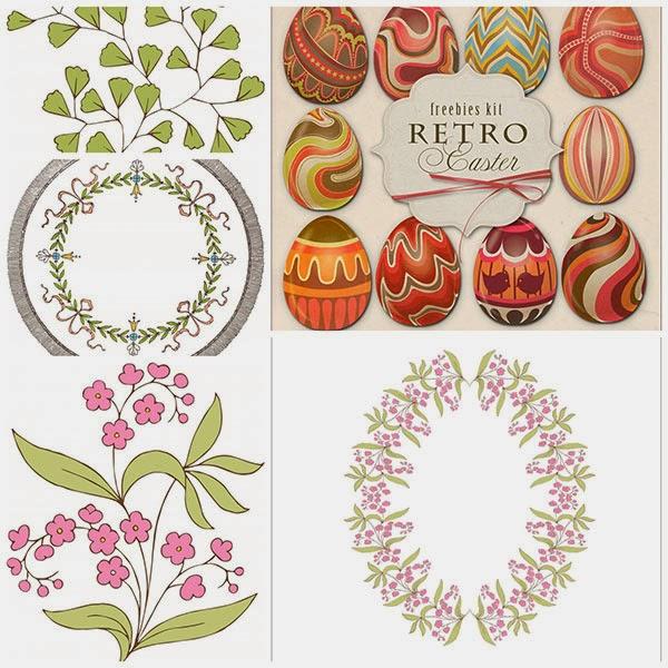 free clip art, free vintage clip art, floral frame clip art, easter egg clip art