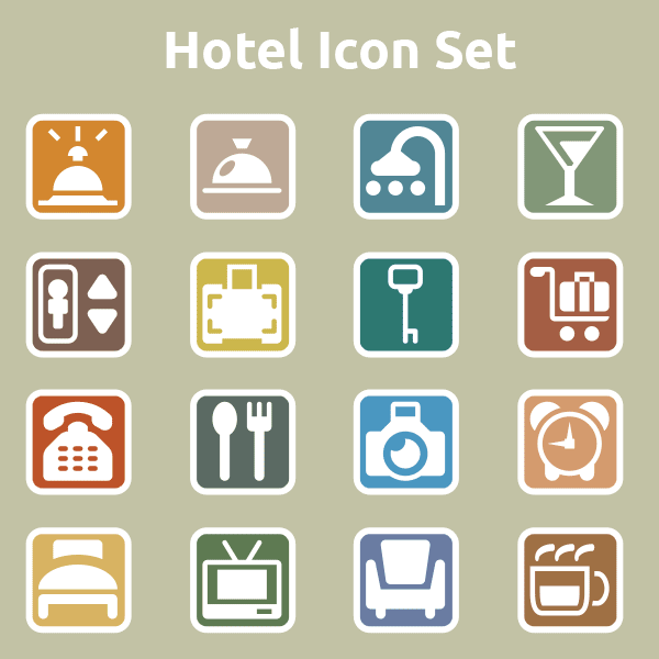 free icons, hotel icons, restaurant icons