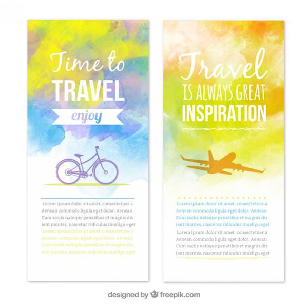 Stock Graphics - Watercolor Brochure Background Vector