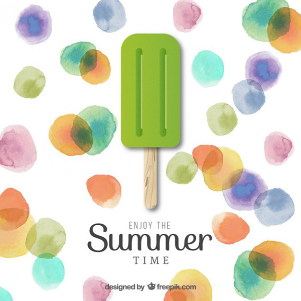 Watercolor Summer Vector Artwork