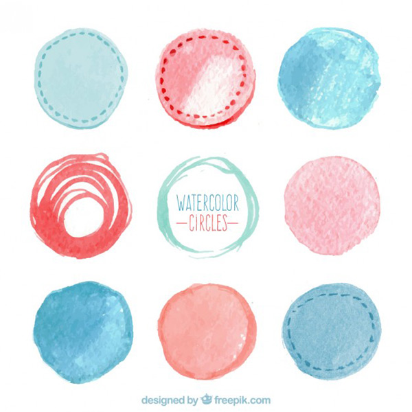 Vector Art Stock - Watercolor Circles