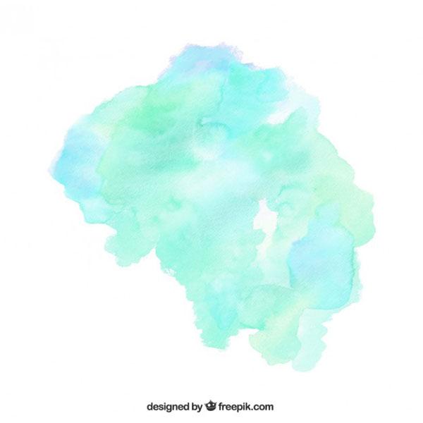 Blue Green Watercolor Blotch Vector