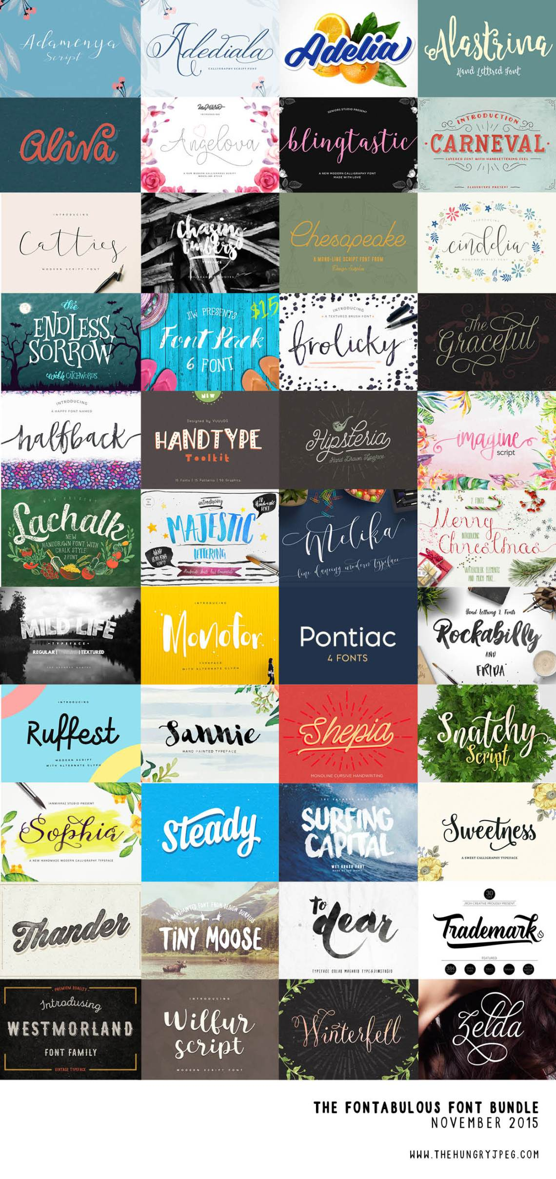 hungryjpeg_november_font_bundle