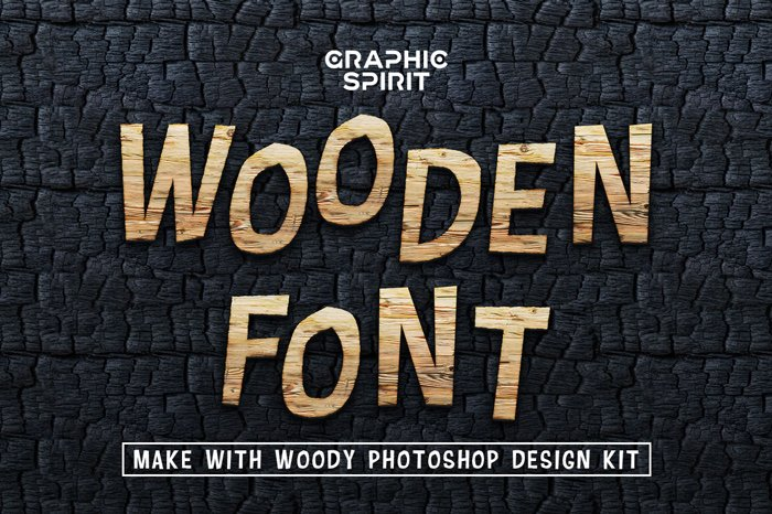 Wooden Font Design Kit