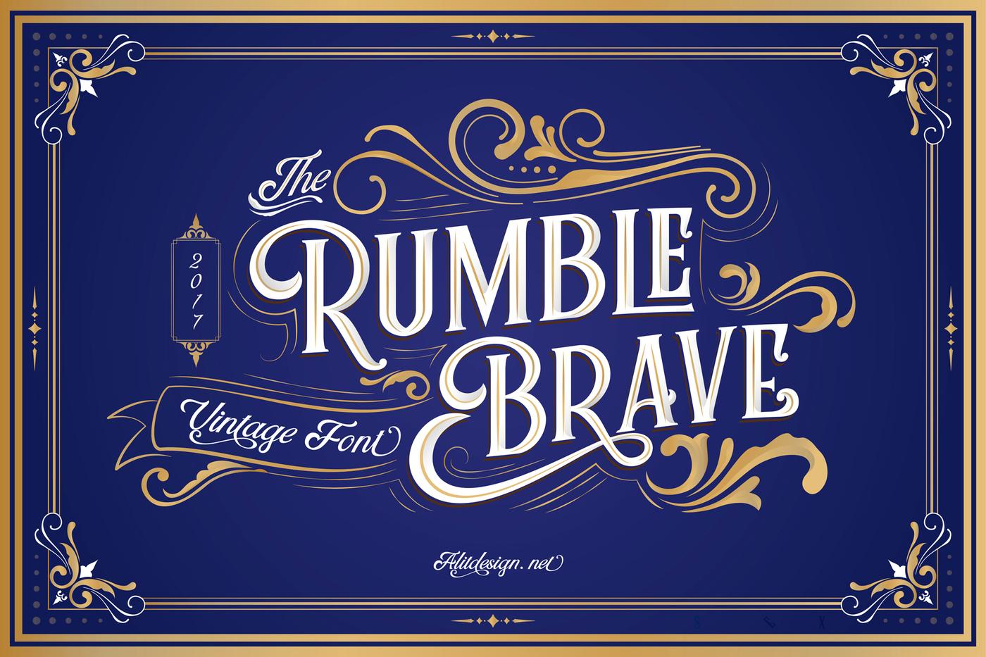 005_Rumble_Brave_Vintage_Font