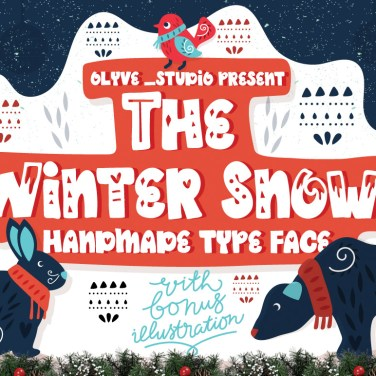010_The Winter Snow_Scandinavian_Font