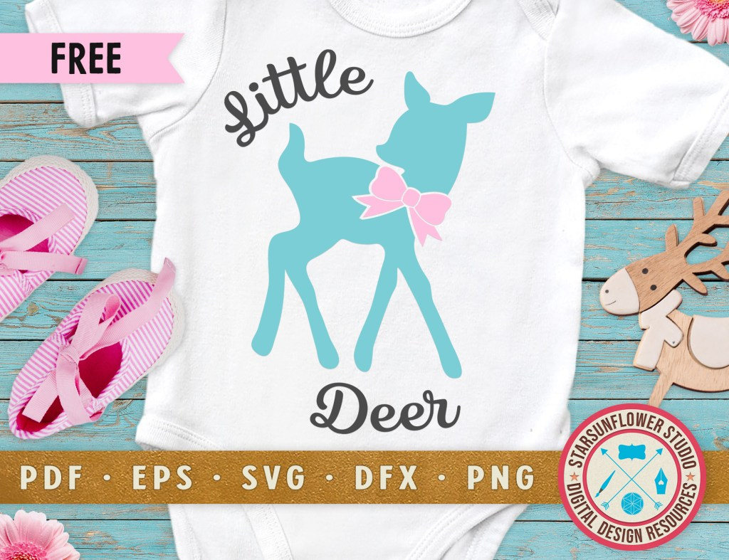 Free Svg Cut Files Little Deer Diy Baby Onesies Starsunflower Studio Blog