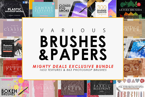 Realistic Papers and Brushes Bundle