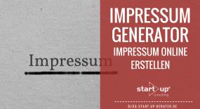 Impressum Generator: Rechtssicheres Impressum online erstellen.
