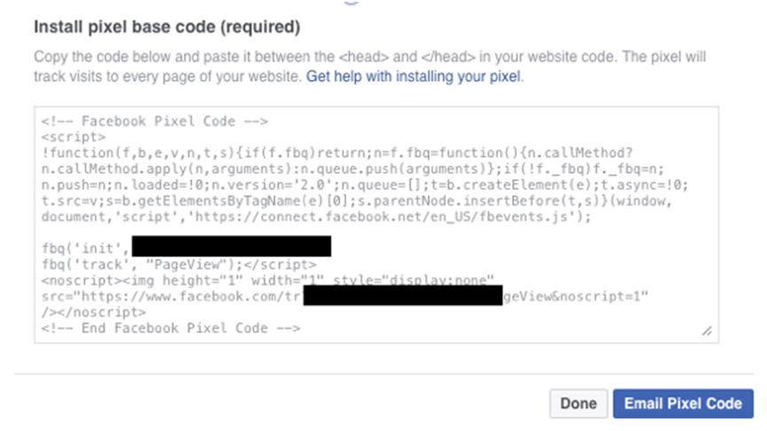 facebook pixel help