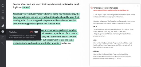 grammarly blogging