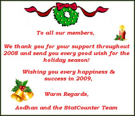 Happy Holidays StatCounter Blog