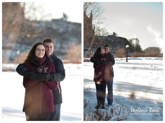 Downtown Ottawa Winter Engagement Stephanie Beach Photography
