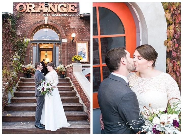 orange-art-gallery-blumen-studio-bouquet-wedding-stephanie-beach-photography-bride-groom-portrait