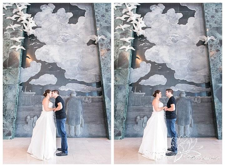Toronto-Island-Wedding-Stephanie-Beach-Photography-bride-groom-statue